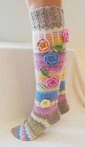 Kuvahaun tulos haulle knitting long socks pinterest