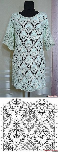 Crochet tunic chart pattern
