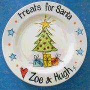 Handpainted Plate - Santa's Treats