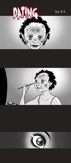 Silent Horror :: Dating Silent Horror Comics, Creepy Comics, Funny Comics, Short Horror Stories, Creepy Stories, Horror Art, Horror Movies, Comics Story, Comic Panels