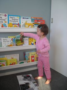 Rain Gutter Book Shelves--Such a great idea!