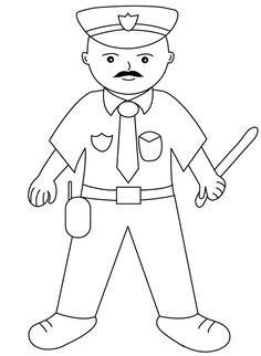 Printable Policeman Coloring Pages. Police officers provide public protection and ensure the detection and prevention of crime, and perform law and order enforc Horse Coloring Pages, Cartoon Coloring Pages, Coloring Pages To Print, Free Printable Coloring Pages, Coloring Books, Coloring Pages For Teenagers, Kids Pages, Coloring Sheets For Kids, Kids Coloring