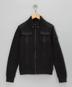 Take a look at this Charcoal Mangus Zip-Up Jacket by Civil Society on #zulily today! Love this coat!
