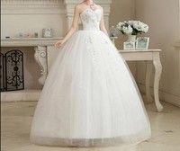 Off Shoulder Bridal Wedding Gown with Full-length Crinoline Dress