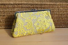 Hey, I found this really awesome Etsy listing at https://www.etsy.com/listing/195334304/yellow-lace-clutch-wedding-gift-bridal