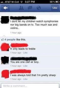 Too much sax and violins leads to treble #musichumor