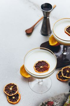 meyer lemon bourbon fizzes | a change of scenery | holly & flora