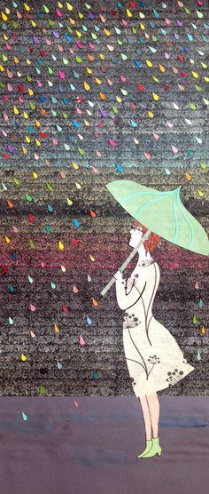 """Camilla Cazzaniga """"quando fuori piove"""" collage"""