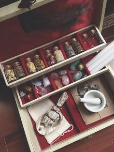Witch's Charm Box Cream by MoveWithTheMoon on Etsy