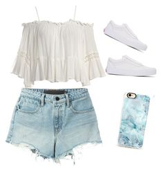 """""""Untitled #1"""" by breezaboo-1 ❤ liked on Polyvore featuring Sans Souci, T By Alexander Wang, Vans and Casetify"""