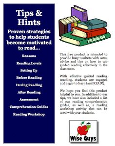"FREE LANGUAGE ARTS LESSON - ""Guided Reading Tips, Hints, Strategies, Activities, and Ideas FREE"" - Go to The Best of Teacher Entrepreneurs for this and hundreds of free lessons.  3rd - 7th Grade  #FreeLesson   #TeachersPayTeachers   #TPT   #LanguageArts     http://www.thebestofteacherentrepreneurs.net/2011/07/free-reading-product-guided-reading.html"