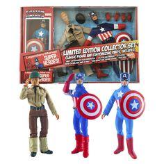 Captain America LE 8-Inch Retro Action Figure Set