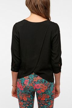 Pins And Needles Tulip Back Blouse  #UrbanOutfitters