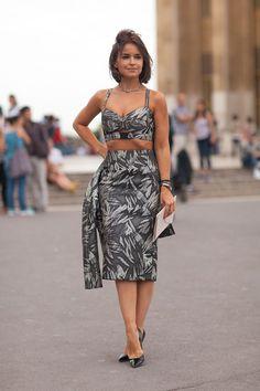 Paris Street Style Fall Couture 2013 - 2013 Fall Haute Couture Parisian Street Style - Harper's BAZAAR - Miroslava Duma in Jason Wu
