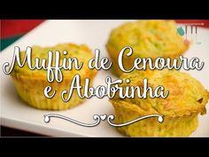 Receita de Muffin de cenoura e abobrinha uma refeição leve e saudável muito rápida e facil de fazer. Receita de Muffin de cenoura e abobrinha com fotos.