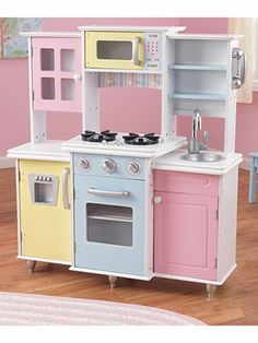 I Donu0027t Know Why I Keep Bumping Into This Lovely Play Kitchens! I Donu0027t  Havu2026 | DIY Play Kitchen Play House Thrifted Repurposed Kitchens And  Accessories ...