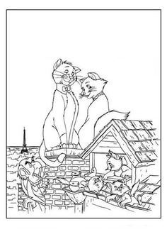 The Aristocats Coloring Page Hellokids Fantastic Collection Of Pages Has Lots To Print Out Or Color Online