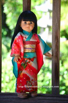Lissie & Lilly: Sawako Lilly's New Kimono for Hina Matsuri
