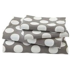 New School Kids Sheet Set (Grey Dot) (queensize)