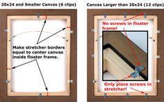Floater Frame Stretcher Mounting Instructions