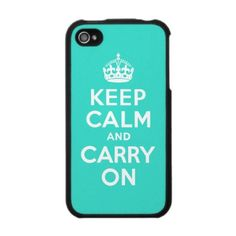 """Keep Calm and Carry On"" I Phone Case. I really want this:)"