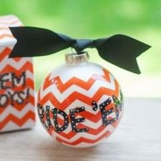 Any stylish fan will love this Oklahoma State University Chevron Ornament... Ride 'Em Cowboys!Personalize it with a name and date for a special spirited keepsake.
