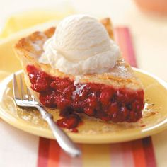 Favorite Fresh Raspberry Pie Recipe from Taste of Home -- shared by Emily Dennis of Hancock, Michigan