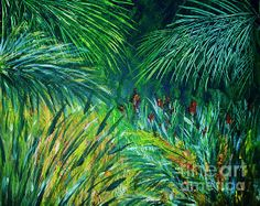 Tropical Rainforest Acrylic on Canvas By Artist Sharon Wood swoody@internode.on.net