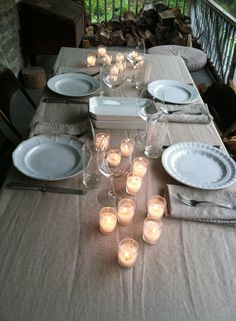 Simple candle tablesettings