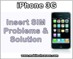 Apple iPhone 3G 'Insert SIM! No SIM' Faults & Problems - How to Fix It? http://ift.tt/2xeyyqf
