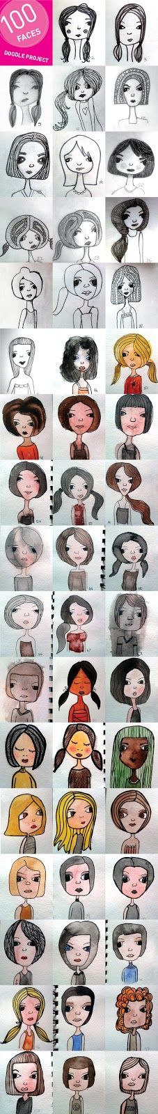 weelife: My 100 Faces Doodle Project