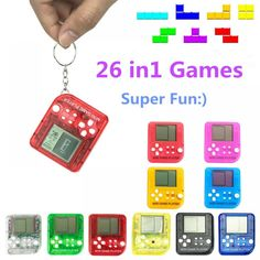 2018 Retro Mini Matchbox Tetris Kids Console Game Console Game Players LCD Portable Built-in 26 Games Random Color Portable Game Console, Tetris, Electronic Toys, Mini Games, Anti Stress, Classic Toys, Video Game Console, Nintendo Consoles, Free Shipping