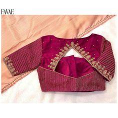 Blouse Designs High Neck, Simple Blouse Designs, Stylish Blouse Design, Designer Blouse Patterns, Fancy Blouse Designs, Bridal Blouse Designs, Pattu Saree Blouse Designs, Sari Blouse, Wedding Blouses