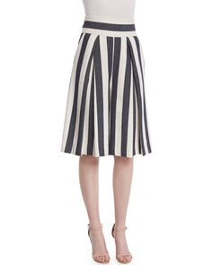 fa16f37ab92 Milly Off-the-Shoulder Stretch-Cotton Blouse   Graphic Striped Cropped  Culottes