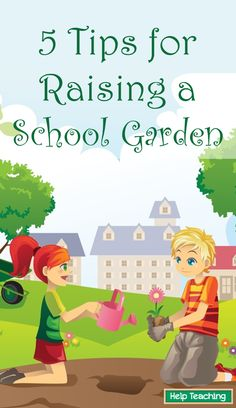 5 Tips For Raising a School Garden - Spring is here and chances are your students are bubbling with energy. Why not put that energy to great use and start a school garden? April is National Garden Month and, thanks to the farm-to-table movement, school gardens are more popular than ever. Gardens are an excellent way to get kids moving, encourage healthy eating, and incorporate project-based learning into your curriculum. Get started with these tips! #education #school #handsonlearning…