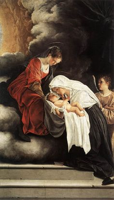 Orazio Lomi Gentileschi (Italian artist, 1563–1639) Madonna and Child in The Vision of St Francesca Romana 1615 - 1619