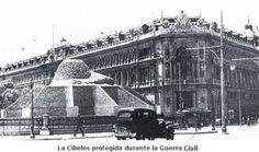 La Fuente de Cibeles protegida durante la guerra civil MADRID