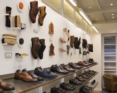 A new Joseph Cheaney store has been opened in London on Jermyn Street. It is a new flagship store for the brand which was founded in 1886 by Joseph Cheaney Shoe Store Design, Retail Store Design, Retail Shop, Shoe Shop, Uk Retail, Boutique Interior, Shop Interior Design, Visual Merchandising, Arquitetura