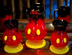MICKEY MOUSE Vase & Pitcher...super funky!!! (not a direct link, but there are tons of odd disney-themed stuff at this site to look through!)
