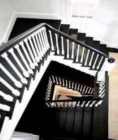 black handrail stairs - Google Search