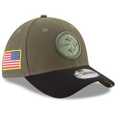 the latest 5ec25 2f84a New Era Pittsburgh Steelers Olive 2017 Salute To Service 39THIRTY Flex Hat