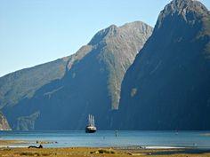 Eine Reise mit dem Schiff entlang der hundert Meter hohen Felswände - Neuseeland Reisen