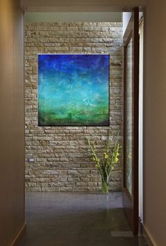 Ocean Deep 36 x 36 Acrylic Abstract by CharlensAbstracts on Etsy