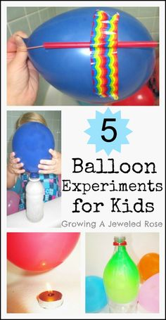 5 FUN Balloon Experiments for Kids! Kids love balloons and these experiments are sure to have them loving Science too!