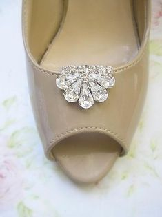 Bridal Shoe Clips Wedding Jewelry Crystal Vintage Style