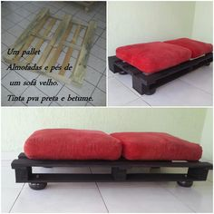 palets Diy Home Furniture, Building Furniture, Pallet Furniture, Furniture Making, Pallet Projects, Diy Projects, Used Pallets, Recycled Wood, Dog Bed
