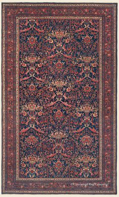 "MAHAL, 10' 5"" x 17' 3"" — Circa 1920 —Price: $22,000, West Central Persian Antique Rug - Claremont Rug Company  Click to learn more about this rug."