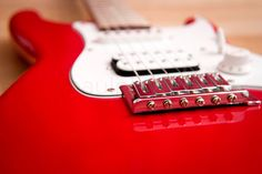Red guitar, One photo per day, by Paul Philpot