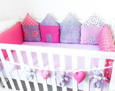 Crib bumper/cradle bumper baby cot bumper от PocketsKidsKingdom