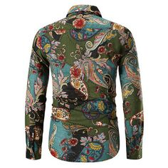Slim Fit Dress Shirts, Slim Fit Dresses, Fitted Dress Shirts, Shirt Dress, Mens Shirts Online, Long Sleeve Wedding, Paisley Print, Casual Shirts For Men, Men Dress